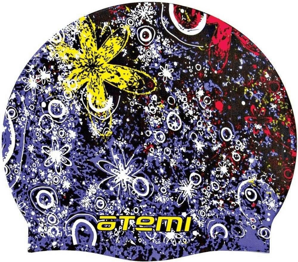 Шапочка для плавания Atemi PSC306 черная/принт PSC306 по цене 660
