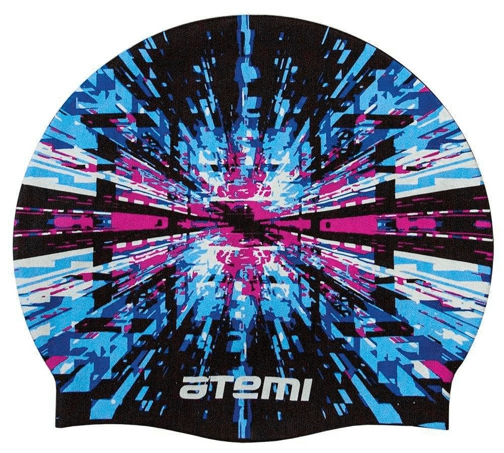 Шапочка для плавания Atemi PSC304 черная/принт PSC304 по цене 660