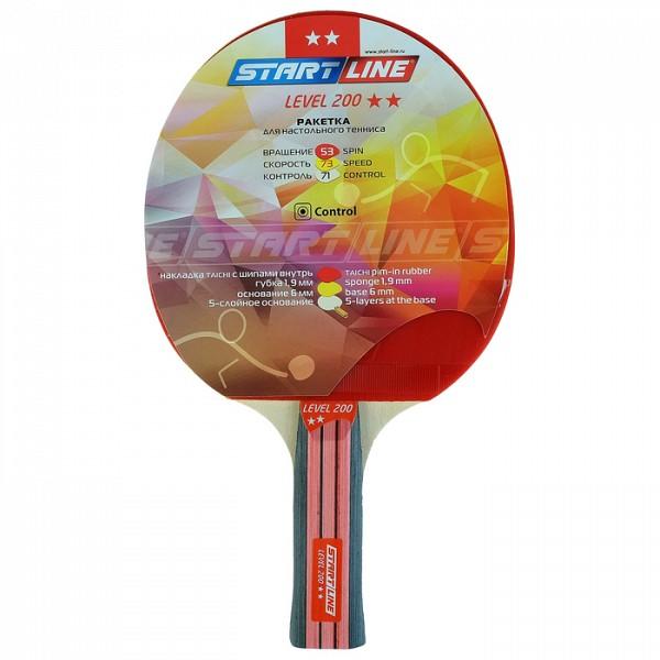 Ракетка для настольного тенниса Start line Level 200 с анатомической ручкой Star
