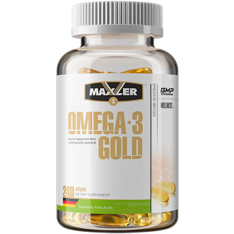 Купить Рыбий жир омега-3 Maxler Omega-3 Gold капсулы 240 шт.