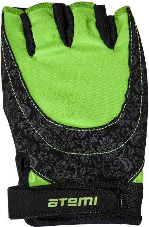 Перчатки для фитнеса Atemi, черно-зеленые, AFG06GN (L) AFG06GNL по цене 650
