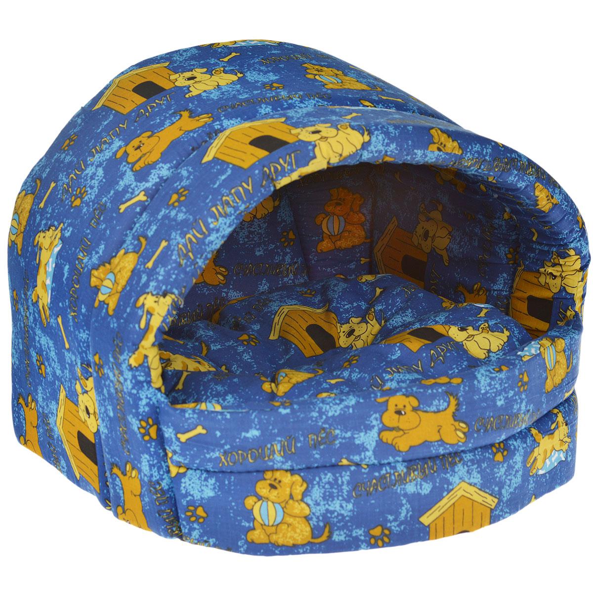 Домик для кошек и собак Бобровый Дворик Эстрада №2 Эксклюзив, в ассортименте, 44x40x36см