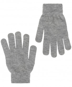 Перчатки для мальчиков Button Blue, цв. серый,