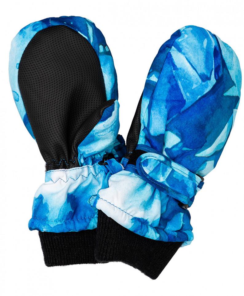 Плащевые варежки для девочек Button Blue,