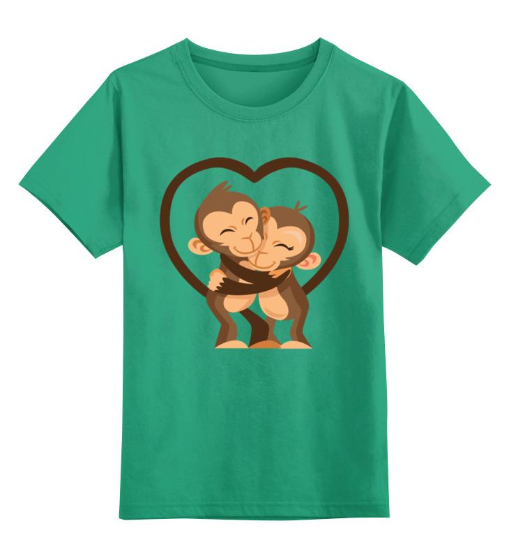 Детская футболка Printio Обезьянки цв.зеленый р.104 0000002654174 по цене 990