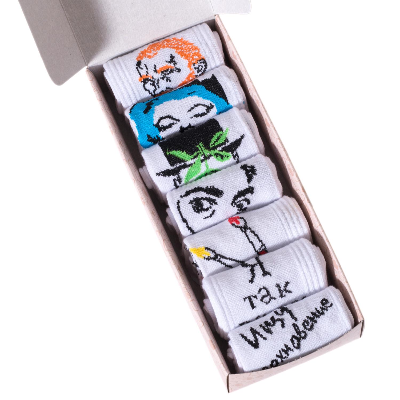 Набор носков женский Челны текстиль L34-7-1ж/9 разноцветный 23-25 (36-39)