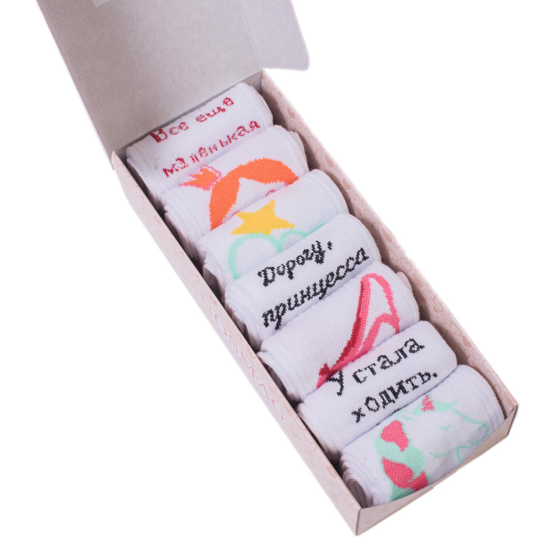 Набор носков женский Челны текстиль L34-7-1ж/11 разноцветный 23-25 (36-39)