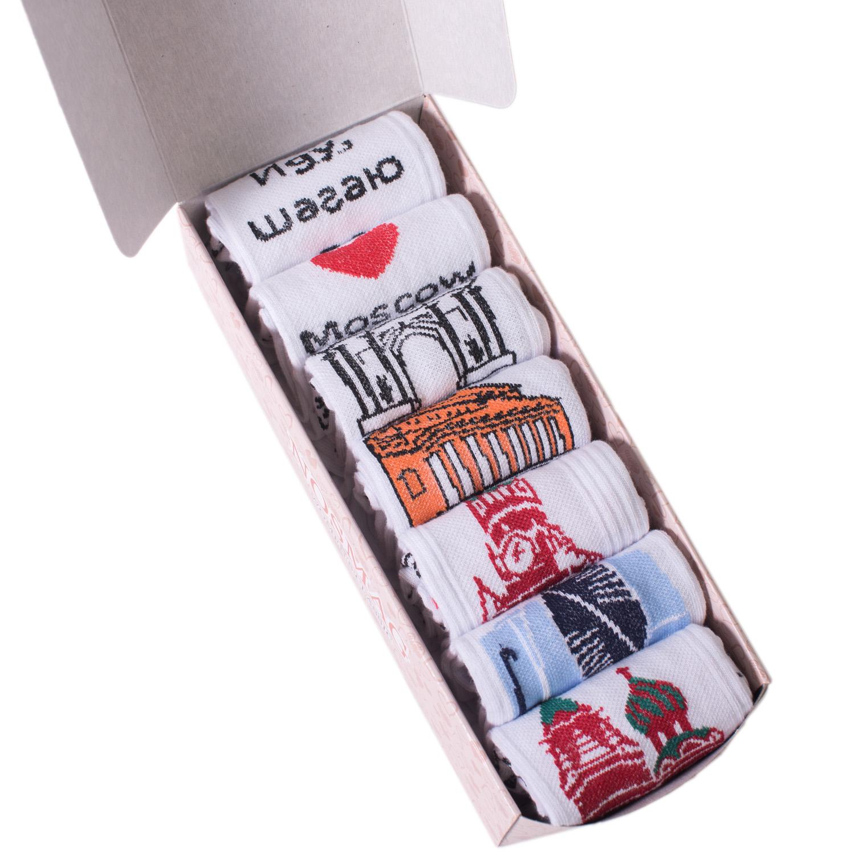 Набор носков женский Челны текстиль L34-7-1ж/18 разноцветный 23-25 (36-39)
