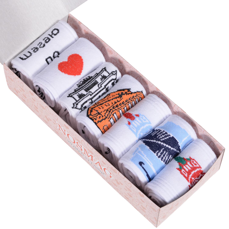 Набор носков женский Челны текстиль L34-7-1ж/23 разноцветный 23-25 (36-39)