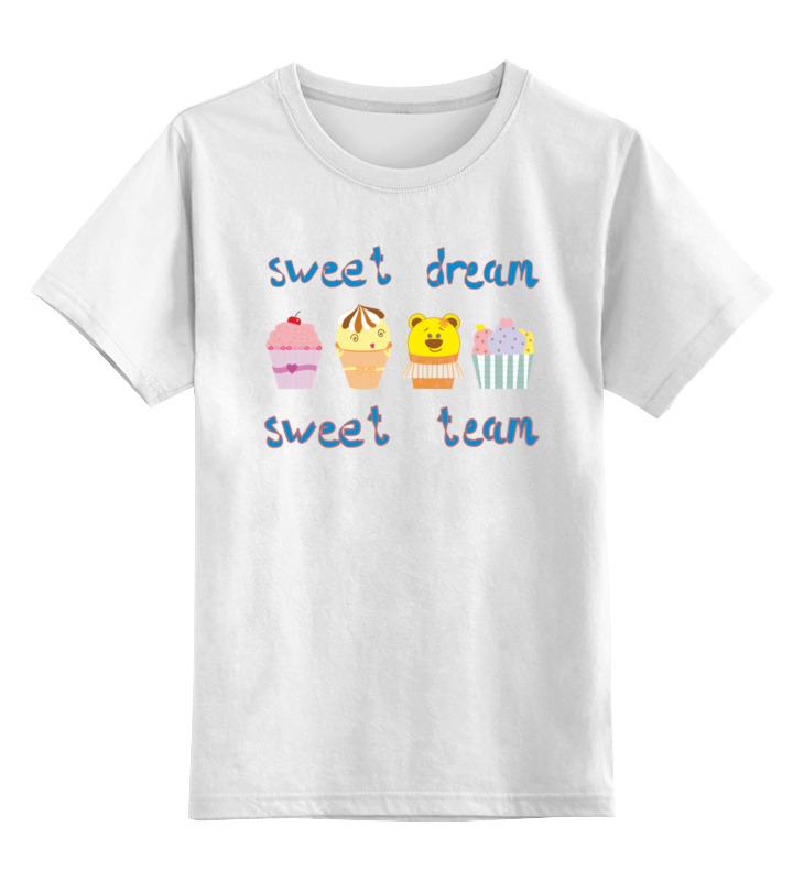 Детская футболка Printio Sweet dream - sweet team цв.белый р.104 0000002564875 по цене 790
