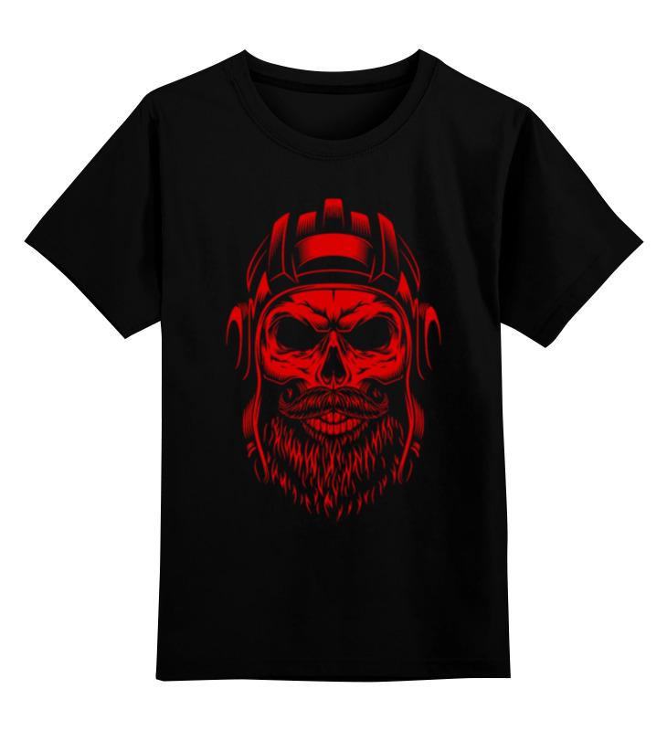 Детская футболка Printio Череп танкист цв.черный р.104 0000002672585 по цене 990