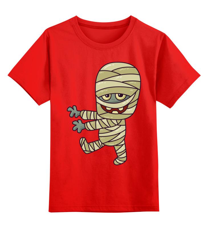 Купить 0000002722303, Детская футболка Printio Мумия цв.красный р.104,