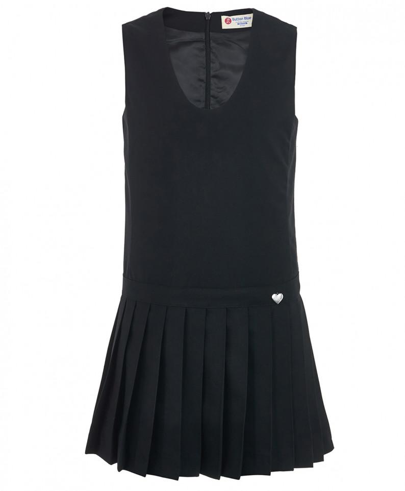 Купить 219BBGS25010800, Сарафан для девочек Button Blue, цв. черный, р.122, Платья для девочек
