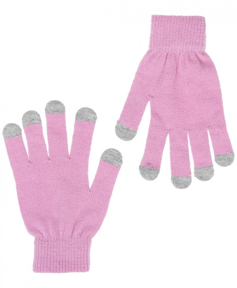 Перчатки для девочек Button Blue, цв. розовый,