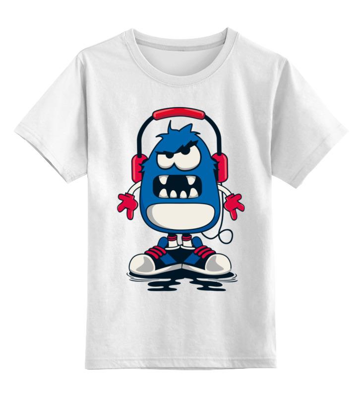 Детская футболка Printio Монстрик цв.белый р.104 0000002813585 по цене 790