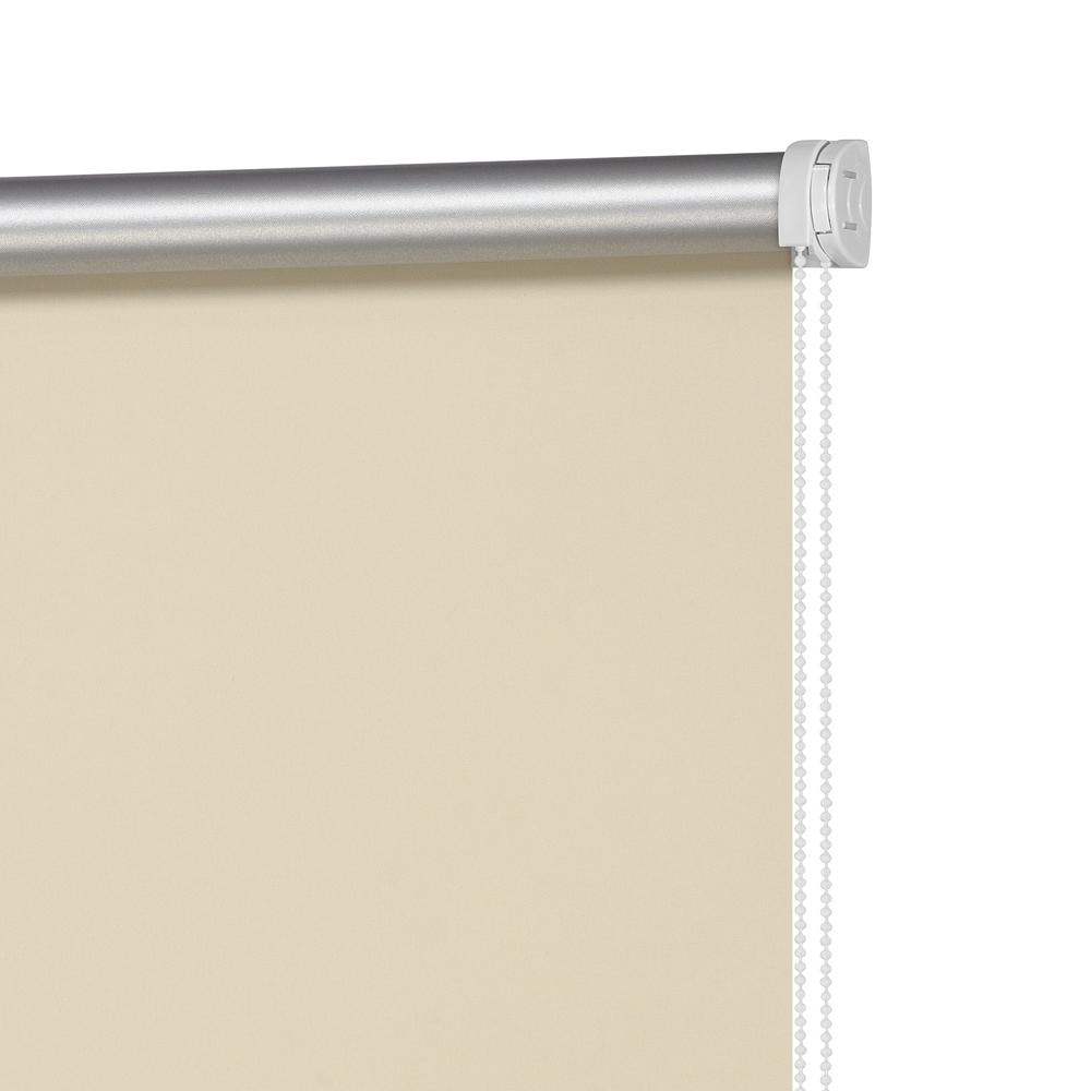 Рулонная штора Decofest Миниролл Блэкаут Плайн Кремово-бежевый 100x160 160x100 см