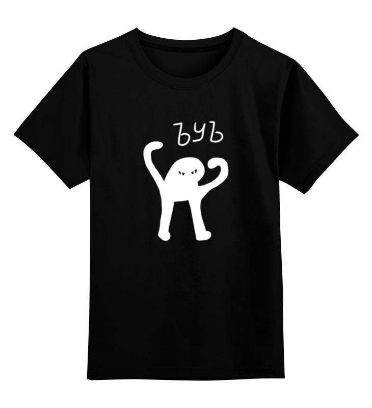 Купить 0000002857742, Детская футболка Printio Ъуъ ъуъ цв.черный р.104,