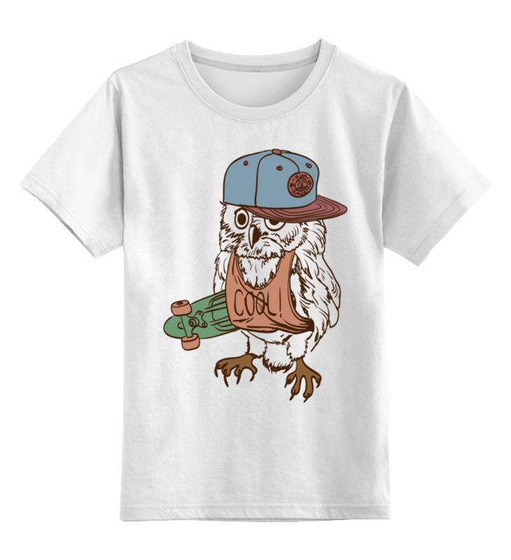 Купить 0000002600492, Детская футболка Printio Сова. цв.белый р.164,
