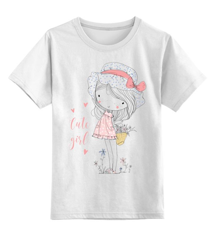 Детская футболка Printio Маленькая девочка цв.белый р.164 0000002651998 по цене 790