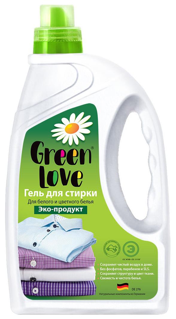 Гель Green Love для стирки для белого и цветного белья эко продукт 1350 мл.