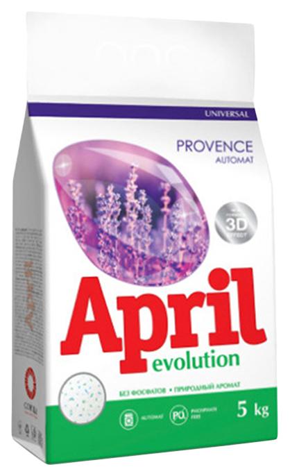 Стиральный порошок april автомат evolution provence для белых вещей 5 кг (4814628003536)