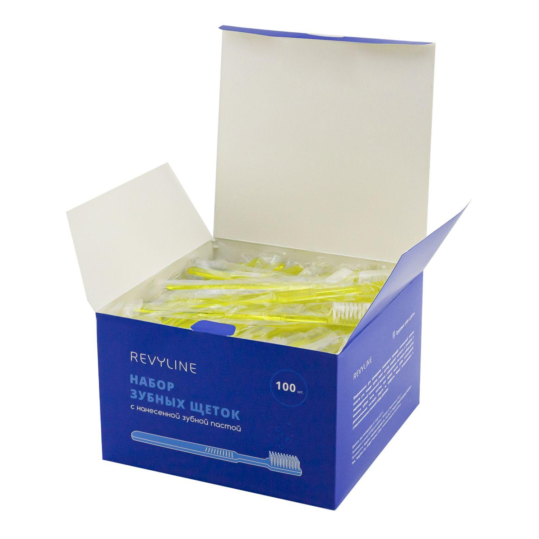 Купить Набор зубных щеток Revyline с нанесенной зубной пастой, 100 шт