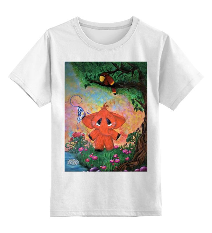Детская футболка Printio Слоник цв.белый р.164 0000002790165 по цене 672