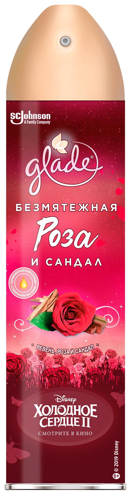 Освежитель воздуха glade холодное сердце 2 (300 мл)-безмятежная роза и сандал