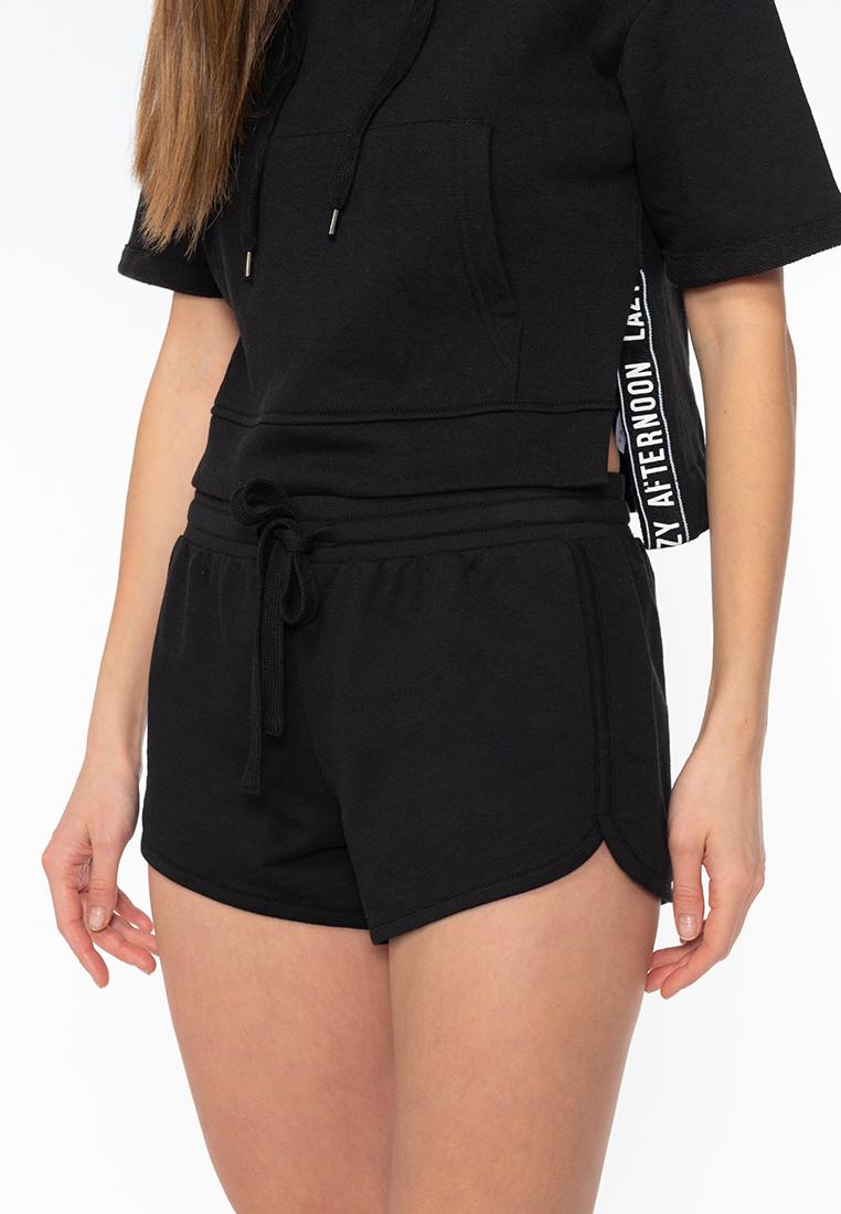 Спортивные шорты женские Modis M201W00711 черные