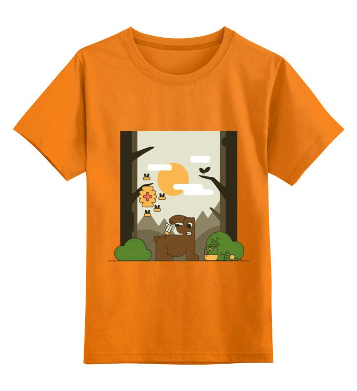 Детская футболка Printio Медоед цв.оранжевый р.104 0000002759274