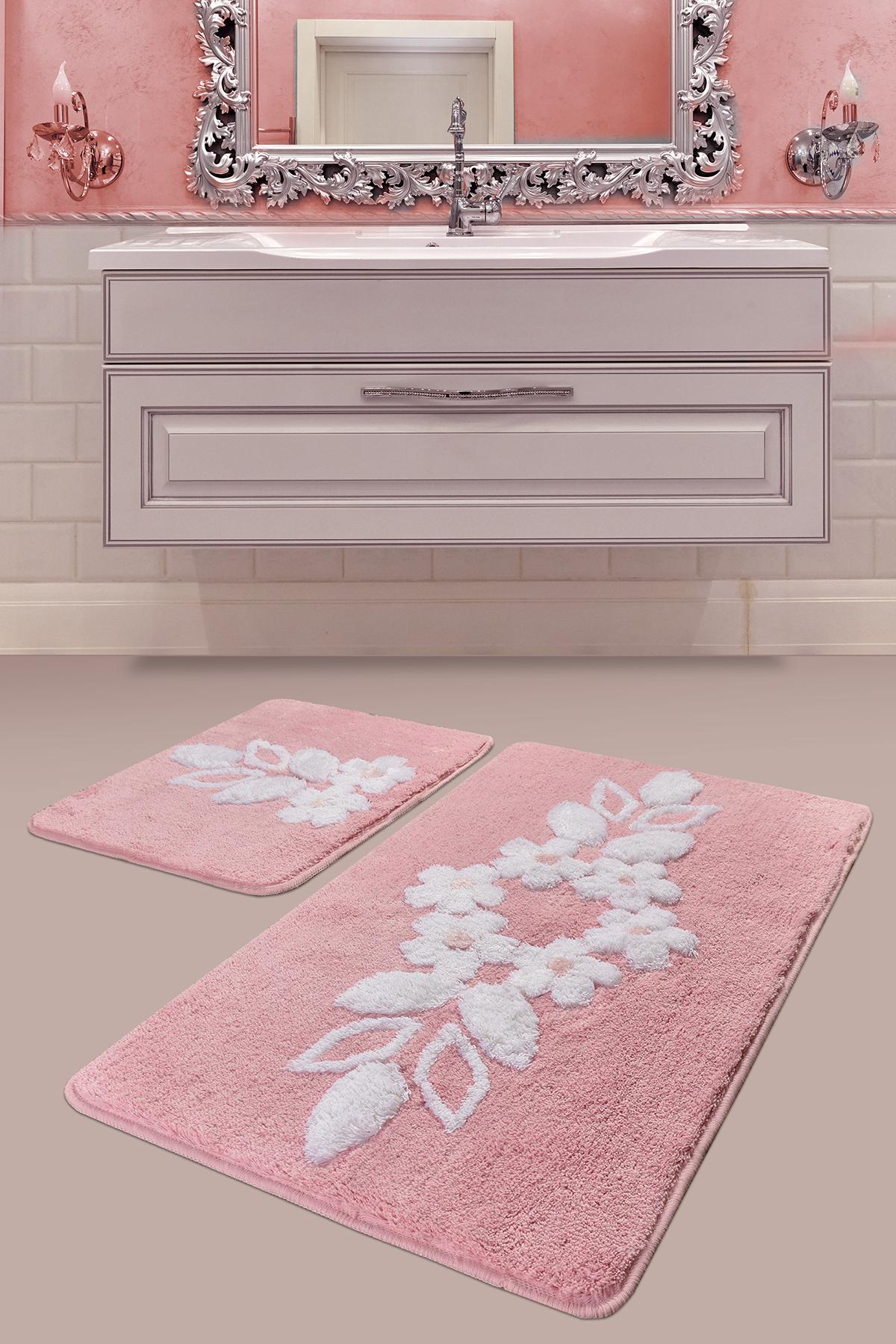 Коврик для ванной DO&CO Bella Цвет: Розовый
