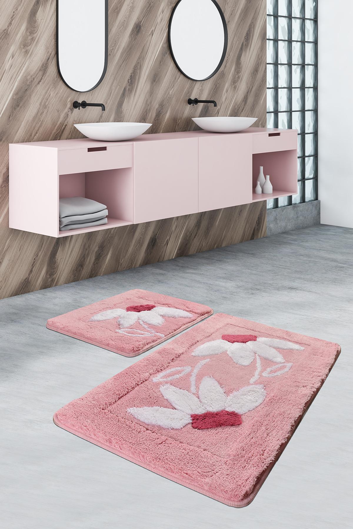 Коврик для ванной DO&CO Daisy Цвет: Розовый