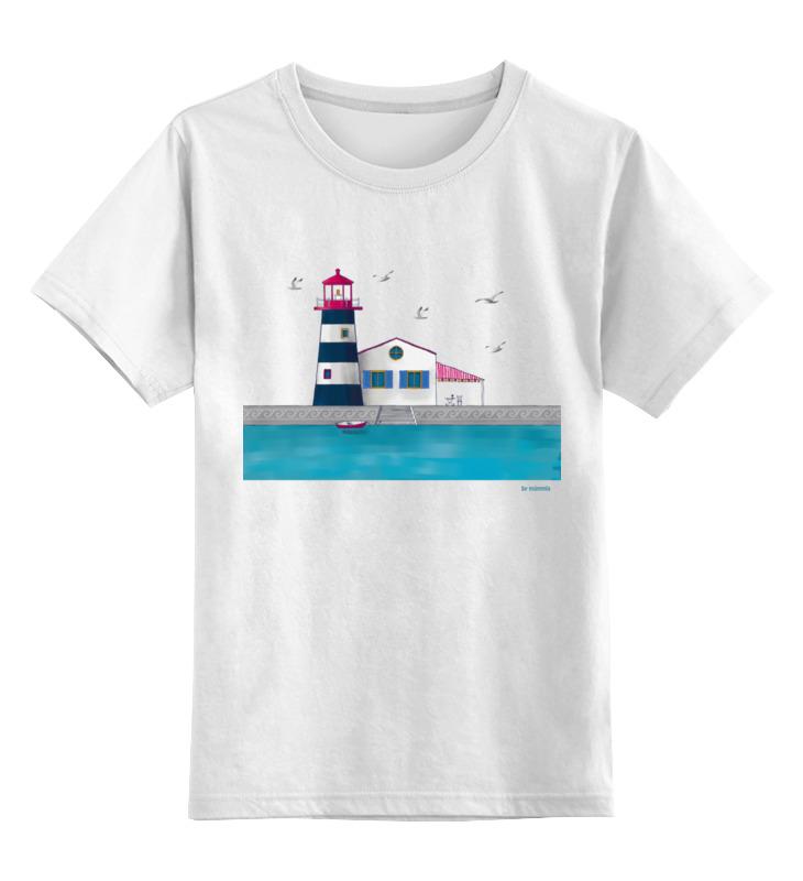 Детская футболка Printio Lighthouse цв.белый р.104 0000002823237 по цене 790