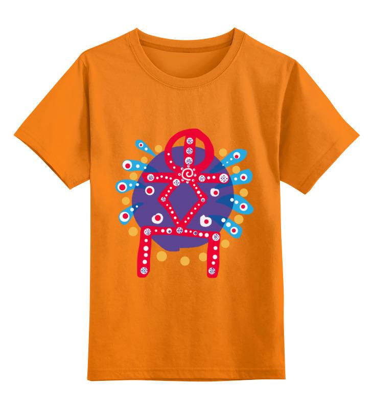Купить 0000002587343, Детская футболка Printio Руна духовный рост цв.оранжевый р.164,