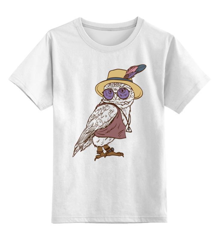 Купить 0000002600493, Детская футболка Printio Сова. цв.белый р.164,