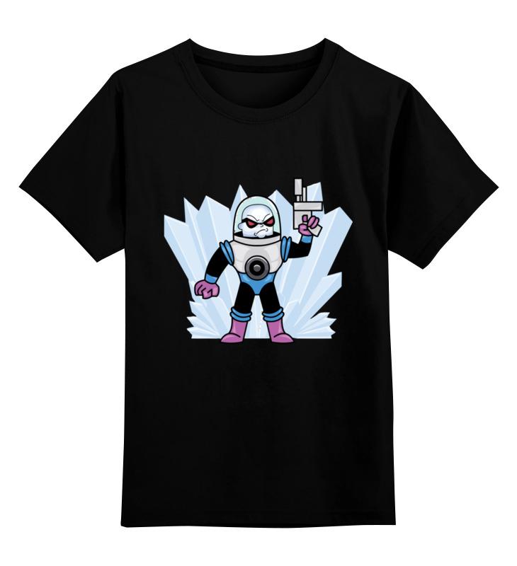 Детская футболка Printio Мистер фриз цв.черный р.164 0000002718894 по цене 990