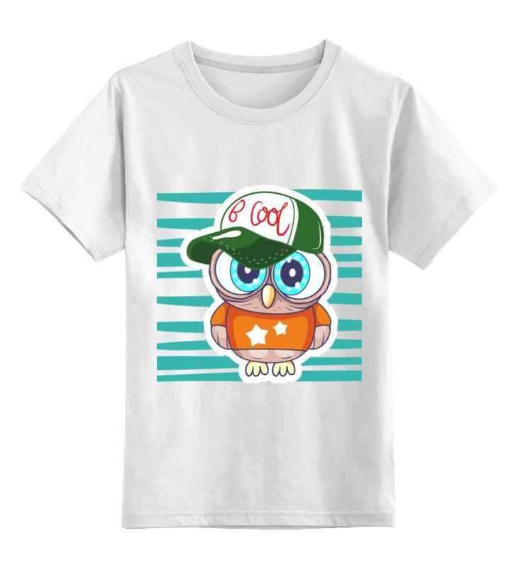0000002832131, Детская футболка Printio Сова 1 цв.белый р.164,  - купить со скидкой