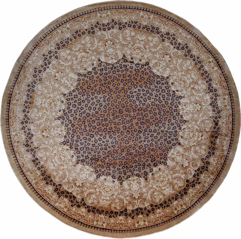 Круглый шелковый ковер ручной работы коллекции «Shanghai Silk» 37767, 150x150 см