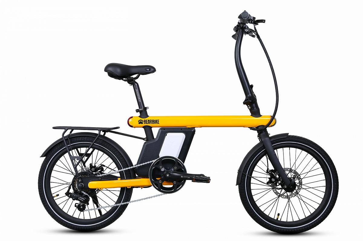 Электровелосипед BearBike Vienna 2019 One Size желтый