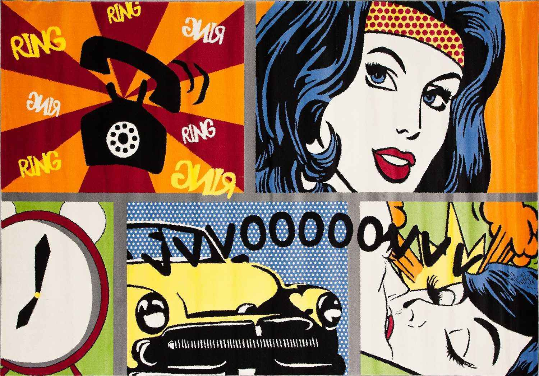Синтетический ковер коллекции «Pop_art» 26148, 80x150 см