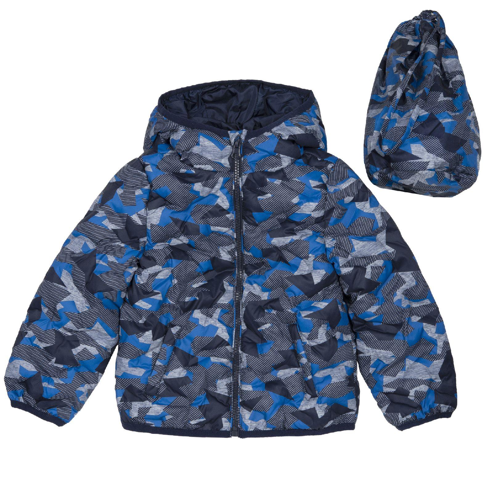 Купить 908745588, Куртка Chicco для мальчика с капюшоном р.110 цвет темно-синий,