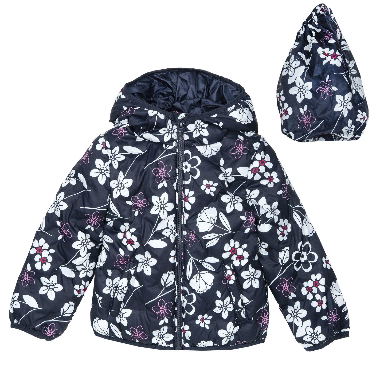Купить 908745686, Куртка Chicco для девочки с капюшоном р.110 цвет темно-синий,