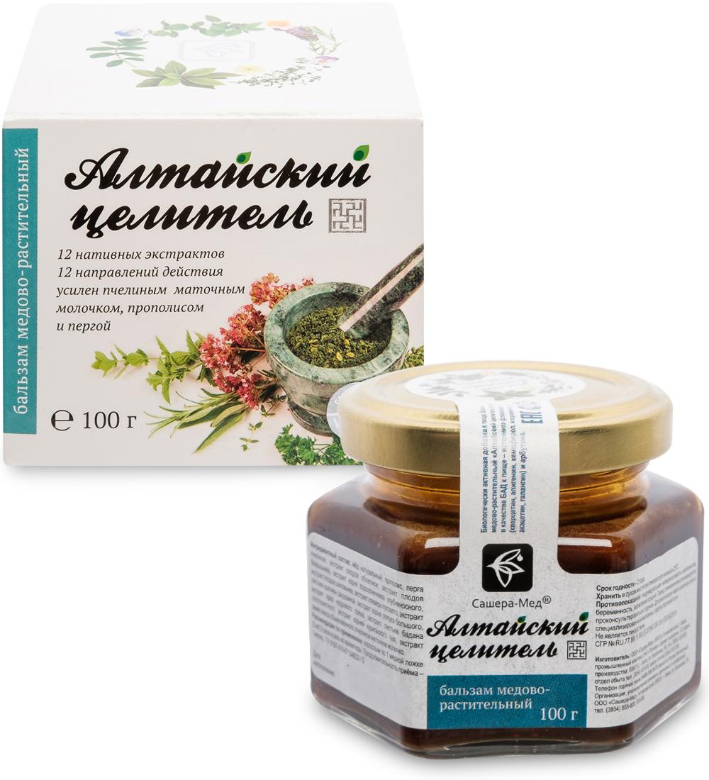 Купить БАД Алтайский целитель Бальзам медово-растительный 100 мл, Сашера-Мед