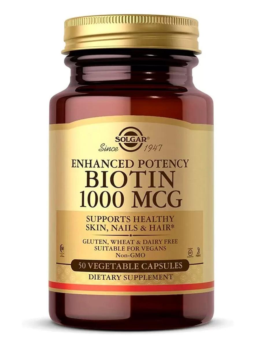 Биотин Solgar 1000 мкг, 50 таблеток  - купить со скидкой