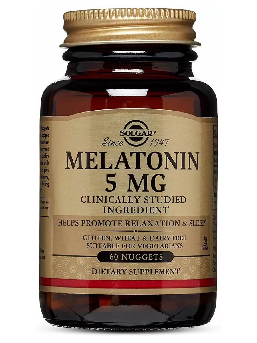Купить Мелатонин Solgar 5 мг, 60 таблеток