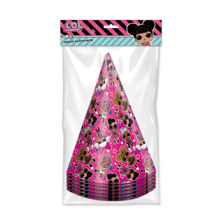 Набор бумажных колпачков LOL (розовые с паттерном),