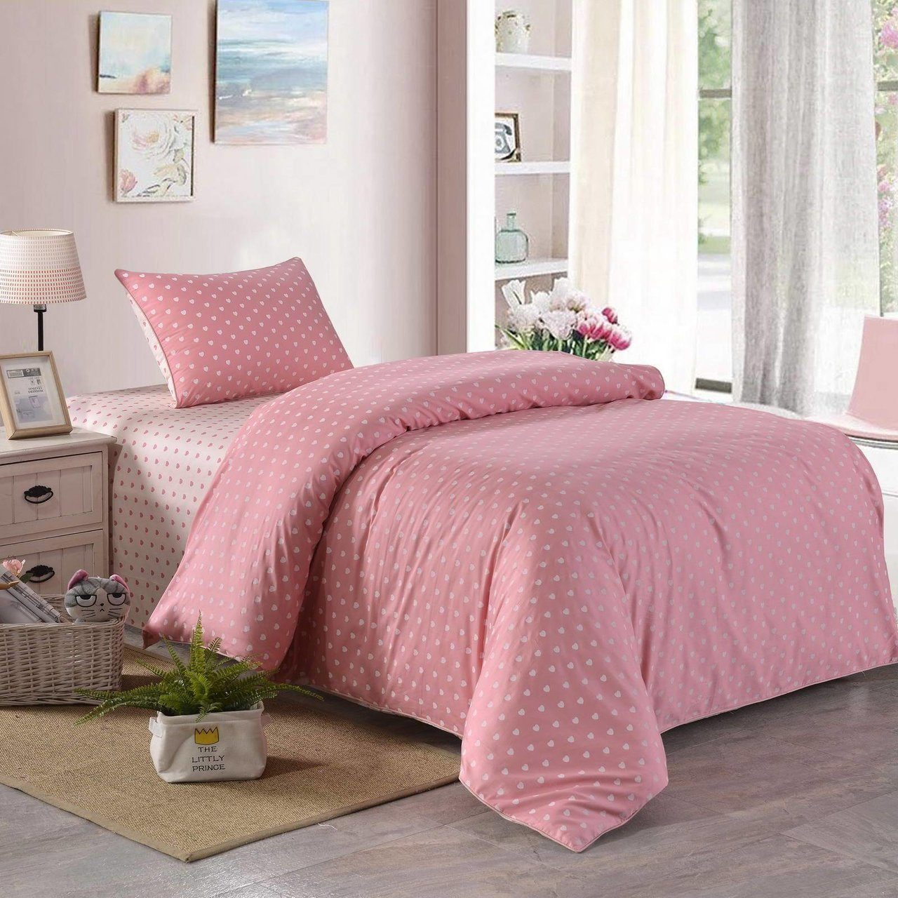 Купить Комплект постельного белья Монклер, детский, цвет: розовый, Sofi dе Marko,