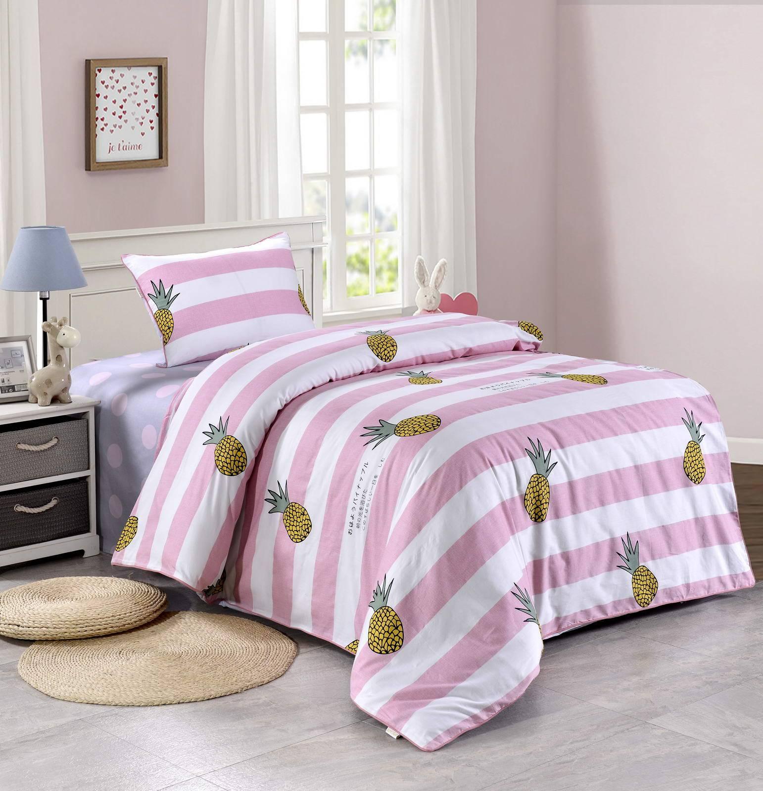 Купить Комплект постельного белья Тропики, детский, цвет: розовый, Sofi dе Marko,