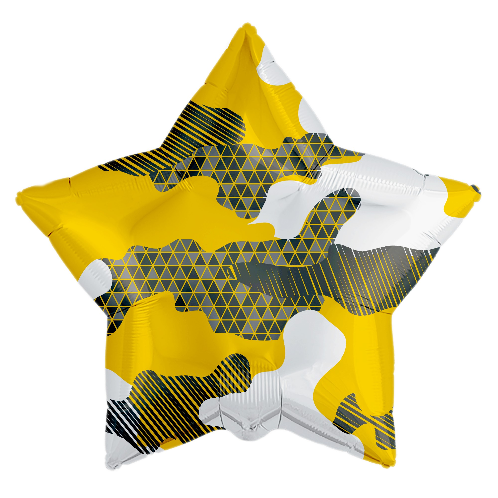 Шар фольгированный Agura. Звезда. Камуфляж абстрактный
