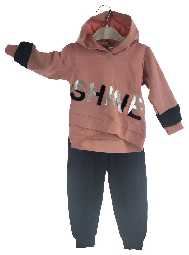 Комплект для девочек JANICOM цв. темно-розовый р.80